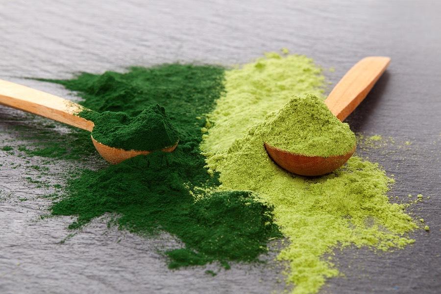 Groen chlorella poeder voor je gezondheid